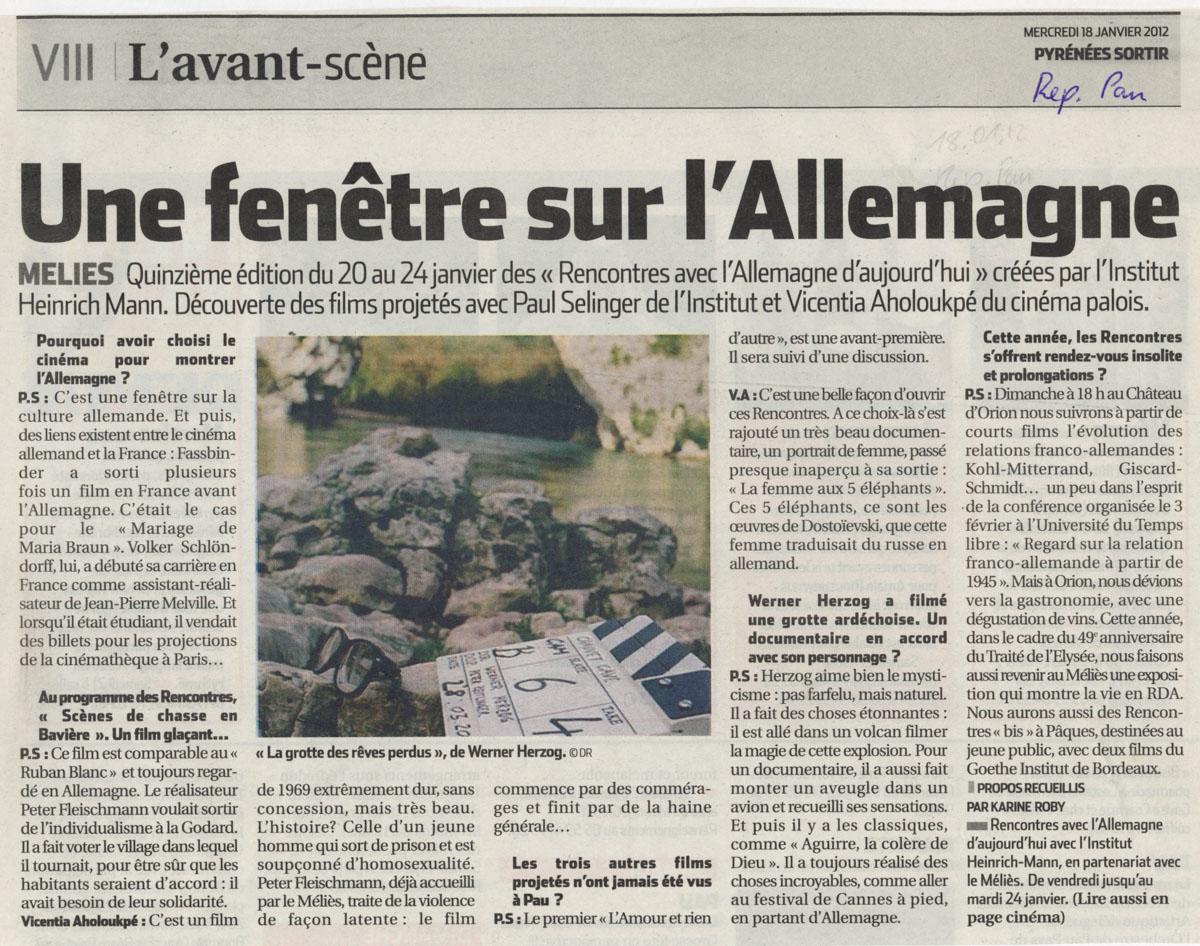 République des Pyrénées du 18/01/2012