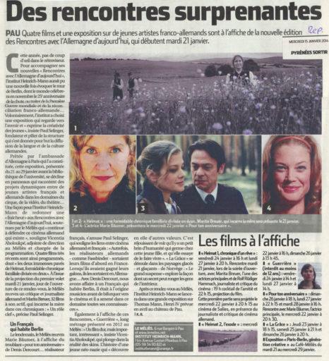 République des Pyrénées du 15/01/2014