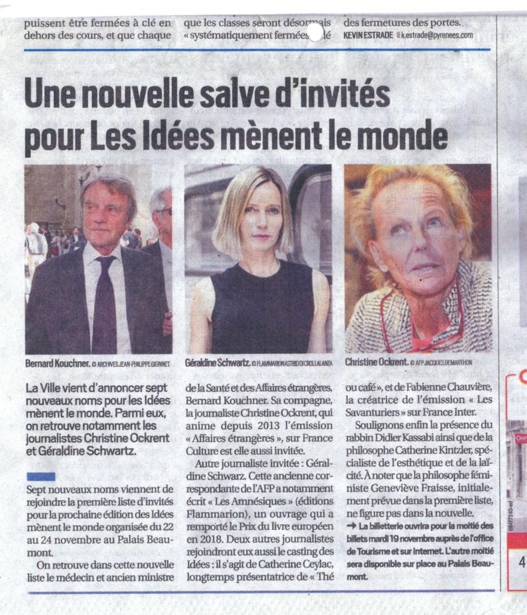 République des Pyrénées du 14/11/2019