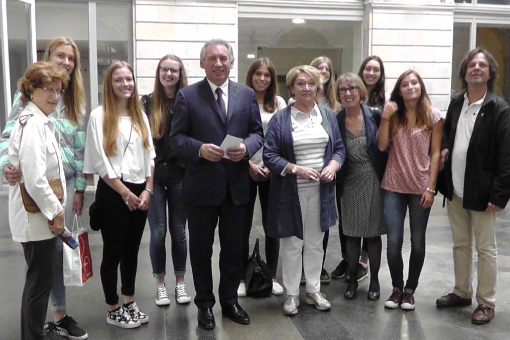 François Bayrou et la délégation de Göttingen